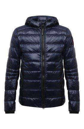 Мужская пуховая куртка crofton CANADA GOOSE темно-синего цвета, арт. 2227M | Фото 1 (Материал подклада: Синтетический материал; Материал утеплителя: Пух и перо; Материал внешний: Синтетический материал; Кросс-КТ: Куртка; Рукава: Длинные; Длина (верхняя одежда): Короткие; Мужское Кросс-КТ: пуховик-короткий; Стили: Кэжуэл)