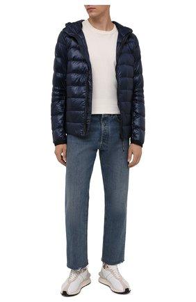 Мужская пуховая куртка crofton CANADA GOOSE темно-синего цвета, арт. 2227M | Фото 2 (Материал подклада: Синтетический материал; Материал утеплителя: Пух и перо; Материал внешний: Синтетический материал; Кросс-КТ: Куртка; Рукава: Длинные; Длина (верхняя одежда): Короткие; Мужское Кросс-КТ: пуховик-короткий; Стили: Кэжуэл)