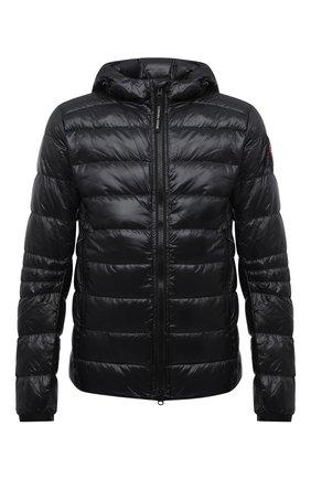 Мужская пуховая куртка crofton CANADA GOOSE черного цвета, арт. 2227M | Фото 1 (Материал внешний: Синтетический материал; Материал утеплителя: Пух и перо; Материал подклада: Синтетический материал; Кросс-КТ: Куртка; Длина (верхняя одежда): Короткие; Рукава: Длинные; Мужское Кросс-КТ: пуховик-короткий; Стили: Кэжуэл)