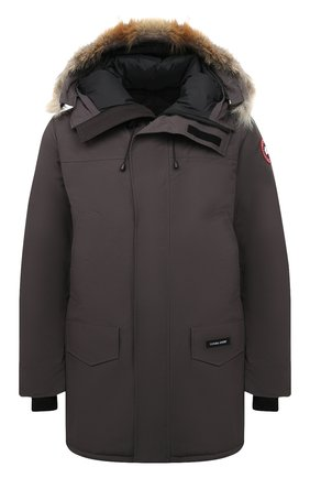 Мужская пуховая парка langford CANADA GOOSE серого цвета, арт. 2062M | Фото 1 (Материал утеплителя: Пух и перо; Материал подклада: Синтетический материал; Материал внешний: Синтетический материал; Стили: Кэжуэл; Кросс-КТ: Куртка; Мужское Кросс-КТ: пуховик-короткий; Длина (верхняя одежда): До середины бедра; Рукава: Длинные)