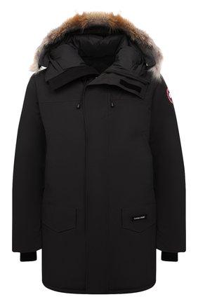 Мужская пуховая парка langford CANADA GOOSE черного цвета, арт. 2062M | Фото 1 (Материал утеплителя: Пух и перо; Материал внешний: Синтетический материал; Материал подклада: Синтетический материал; Стили: Кэжуэл; Кросс-КТ: Куртка; Мужское Кросс-КТ: пуховик-короткий; Длина (верхняя одежда): До середины бедра; Рукава: Длинные)