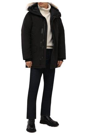 Мужская пуховая парка langford CANADA GOOSE черного цвета, арт. 2062M | Фото 2 (Материал утеплителя: Пух и перо; Материал внешний: Синтетический материал; Материал подклада: Синтетический материал; Стили: Кэжуэл; Кросс-КТ: Куртка; Мужское Кросс-КТ: пуховик-короткий; Длина (верхняя одежда): До середины бедра; Рукава: Длинные)