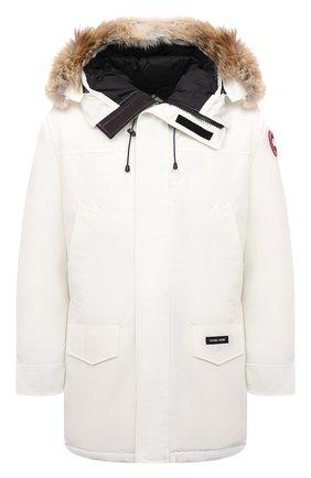 Мужская пуховая парка langford CANADA GOOSE белого цвета, арт. 2062M | Фото 1 (Материал утеплителя: Пух и перо; Материал внешний: Синтетический материал; Материал подклада: Синтетический материал; Стили: Кэжуэл; Кросс-КТ: Куртка; Мужское Кросс-КТ: пуховик-короткий; Длина (верхняя одежда): До середины бедра; Рукава: Длинные)