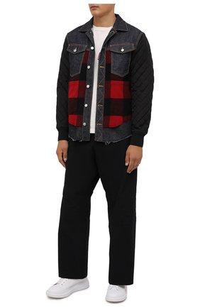 Мужская комбинированная куртка DSQUARED2 темно-синего цвета, арт. S74DM0548/S30485 | Фото 2