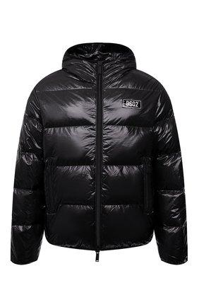 Мужская пуховая куртка DSQUARED2 черного цвета, арт. S74AM1201/S54056 | Фото 1 (Кросс-КТ: Куртка; Мужское Кросс-КТ: пуховик-короткий; Рукава: Длинные; Материал внешний: Синтетический материал; Стили: Гранж; Материал подклада: Синтетический материал; Длина (верхняя одежда): Короткие; Материал утеплителя: Пух и перо)