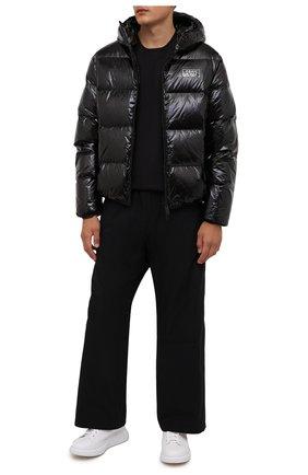 Мужская пуховая куртка DSQUARED2 черного цвета, арт. S74AM1201/S54056 | Фото 2 (Кросс-КТ: Куртка; Мужское Кросс-КТ: пуховик-короткий; Рукава: Длинные; Материал внешний: Синтетический материал; Стили: Гранж; Материал подклада: Синтетический материал; Длина (верхняя одежда): Короткие; Материал утеплителя: Пух и перо)