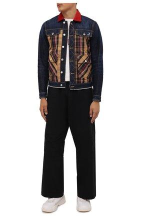 Мужская джинсовая куртка DSQUARED2 темно-синего цвета, арт. S74AM1185/S30214 | Фото 2
