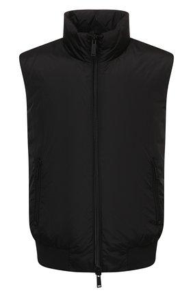 Мужской пуховый жилет DSQUARED2 черного цвета, арт. S79FB0003/S53817   Фото 1