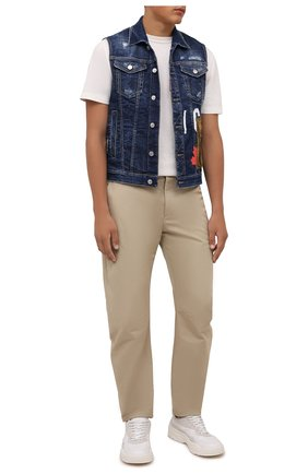 Мужской джинсовый жилет DSQUARED2 темно-синего цвета, арт. S79FB0004/S30342 | Фото 2