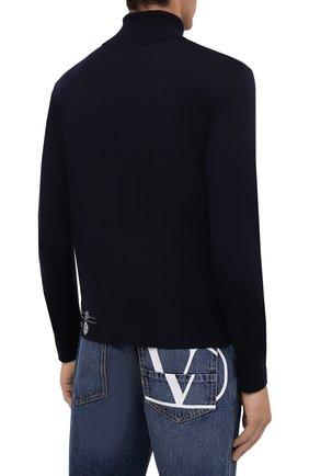 Мужской кашемировая водолазка DSQUARED2 темно-синего цвета, арт. S74HA1169/S16794 | Фото 4 (Материал внешний: Шерсть; Рукава: Длинные; Принт: Без принта; Длина (для топов): Стандартные; Мужское Кросс-КТ: Водолазка-одежда; Стили: Кэжуэл)