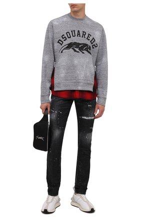 Мужской хлопковый свитшот DSQUARED2 серого цвета, арт. S74GU0515/S25477 | Фото 2