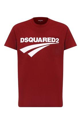 Мужская хлопковая футболка DSQUARED2 бордового цвета, арт. S71GD1098/S22427 | Фото 1