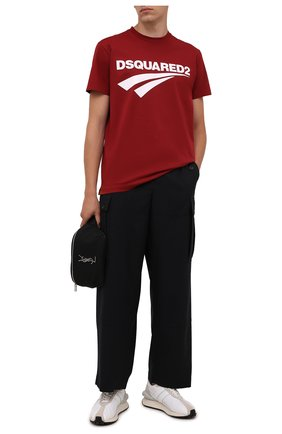 Мужская хлопковая футболка DSQUARED2 бордового цвета, арт. S71GD1098/S22427 | Фото 2