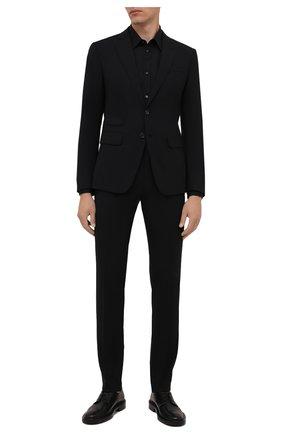 Мужской шерстяной костюм DSQUARED2 черного цвета, арт. S71FT0180/S40320   Фото 1