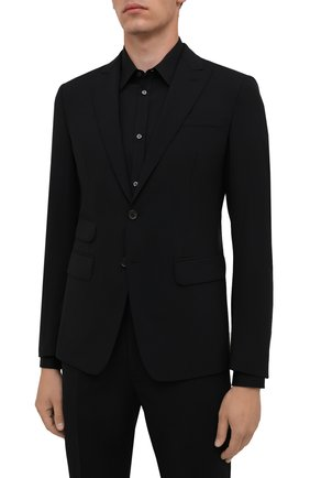 Мужской шерстяной костюм DSQUARED2 черного цвета, арт. S71FT0180/S40320   Фото 2