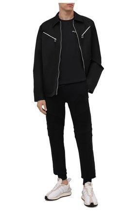 Мужская хлопковая футболка BALMAIN черного цвета, арт. WH1EF000/B069 | Фото 2