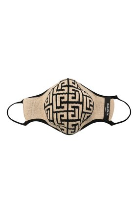 Женского маска для лица BALMAIN черно-белого цвета, арт. WF1XD001/K265   Фото 2 (Материал: Хлопок, Текстиль; Мужское Кросс-КТ: Маска)