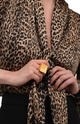 Женское кольцо BALMAIN золотого цвета, арт. WN1XR056/MLTN | Фото 2 (Материал: Металл)