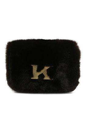 Женская сумка из меха норки KITON темно-коричневого цвета, арт. DMS0FIPX04R71 | Фото 1 (Материал: Натуральный мех; Размер: mini; Ремень/цепочка: На ремешке; Сумки-технические: Сумки через плечо; Женское Кросс-КТ: Вечерняя сумка)