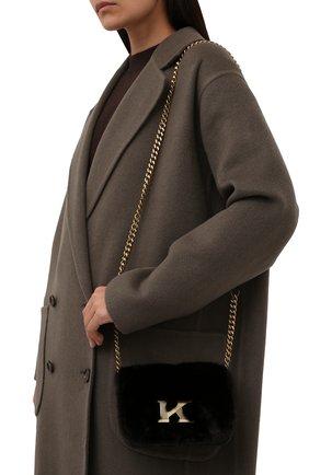 Женская сумка из меха норки KITON темно-коричневого цвета, арт. DMS0FIPX04R71 | Фото 2 (Материал: Натуральный мех; Размер: mini; Ремень/цепочка: На ремешке; Сумки-технические: Сумки через плечо; Женское Кросс-КТ: Вечерняя сумка)