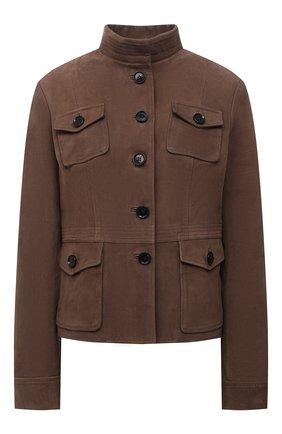 Женская замшевая куртка KITON коричневого цвета, арт. D50575X04T71 | Фото 1