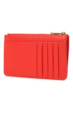 Женский кожаный футляр для кредитных карт DOLCE & GABBANA красного цвета, арт. BI1261/AV967   Фото 2