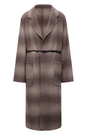 Женское пальто из шерсти и кашемира MANZONI24 светло-коричневого цвета, арт. 21M750-SFUML8/48-52   Фото 1