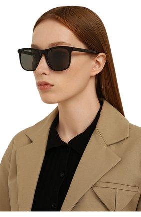 Женские солнцезащитные очки LORO PIANA черного цвета, арт. FAI4927   Фото 2