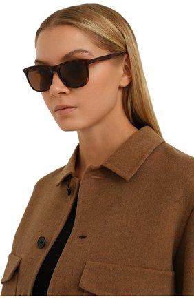 Женские солнцезащитные очки LORO PIANA коричневого цвета, арт. FAI4927   Фото 2