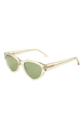 Женские солнцезащитные очки LORO PIANA светло-зеленого цвета, арт. FAL4776 | Фото 1 (Тип очков: С/з; Очки форма: Овальные)