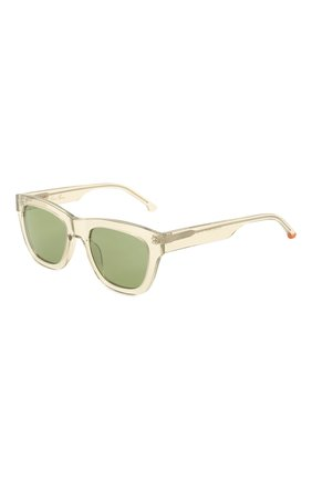 Женские солнцезащитные очки LORO PIANA светло-зеленого цвета, арт. FAL4920 | Фото 1 (Тип очков: С/з; Очки форма: Квадратные)
