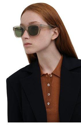 Женские солнцезащитные очки LORO PIANA светло-зеленого цвета, арт. FAL4920 | Фото 2 (Тип очков: С/з; Очки форма: Квадратные)