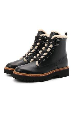 Женские кожаные ботинки h578 HOGAN черного цвета, арт. HXW5780DH5206L | Фото 1