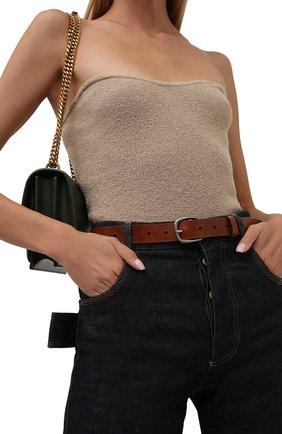 Женский кожаный ремень ACNE STUDIOS коричневого цвета, арт. C80088/W   Фото 2