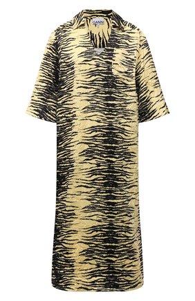 Женское платье GANNI желтого цвета, арт. F5954   Фото 1