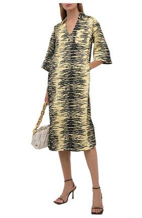 Женское платье GANNI желтого цвета, арт. F5954   Фото 2