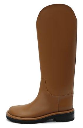 Женские кожаные сапоги pipe riding PROENZA SCHOULER светло-коричневого цвета, арт. PS37012A/14033 | Фото 4 (Подошва: Платформа; Высота голенища: Средние; Каблук высота: Низкий; Материал внутренний: Натуральная кожа; Каблук тип: Устойчивый)