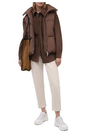 Женский пуховой жилет MOORER коричневого цвета, арт. FUENTE-PX/M0DGL100007-TEPA346 | Фото 2