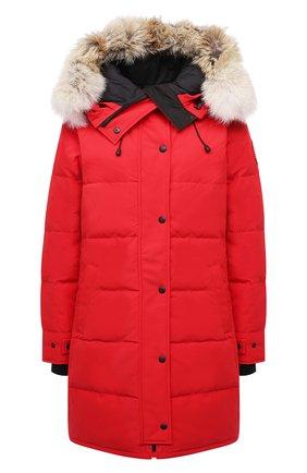 Женский парка shelburne CANADA GOOSE красного цвета, арт. 3802L   Фото 1