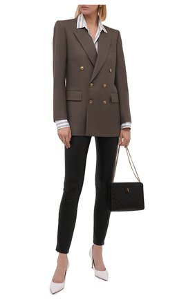 Женские кожаные леггинсы DROME черного цвета, арт. DPD7075P/D1835P   Фото 2