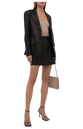 Женский кожаный жакет DROME черного цвета, арт. DPD3139P/D1098P   Фото 2