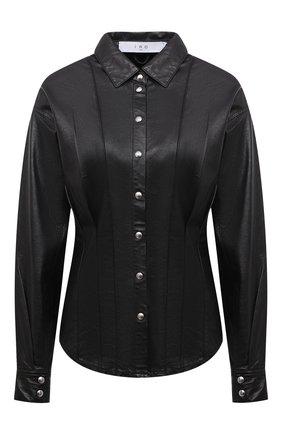 Женская кожаная рубашка IRO черного цвета, арт. WP18HIKARA | Фото 1
