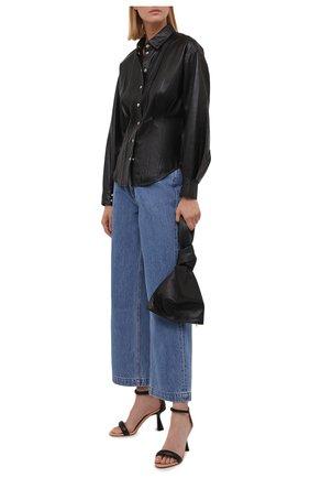 Женская кожаная рубашка IRO черного цвета, арт. WP18HIKARA | Фото 2
