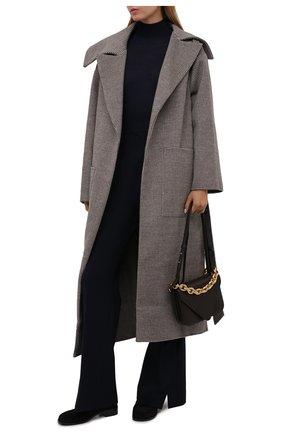 Пальто из шерсти и шелка   Фото №2