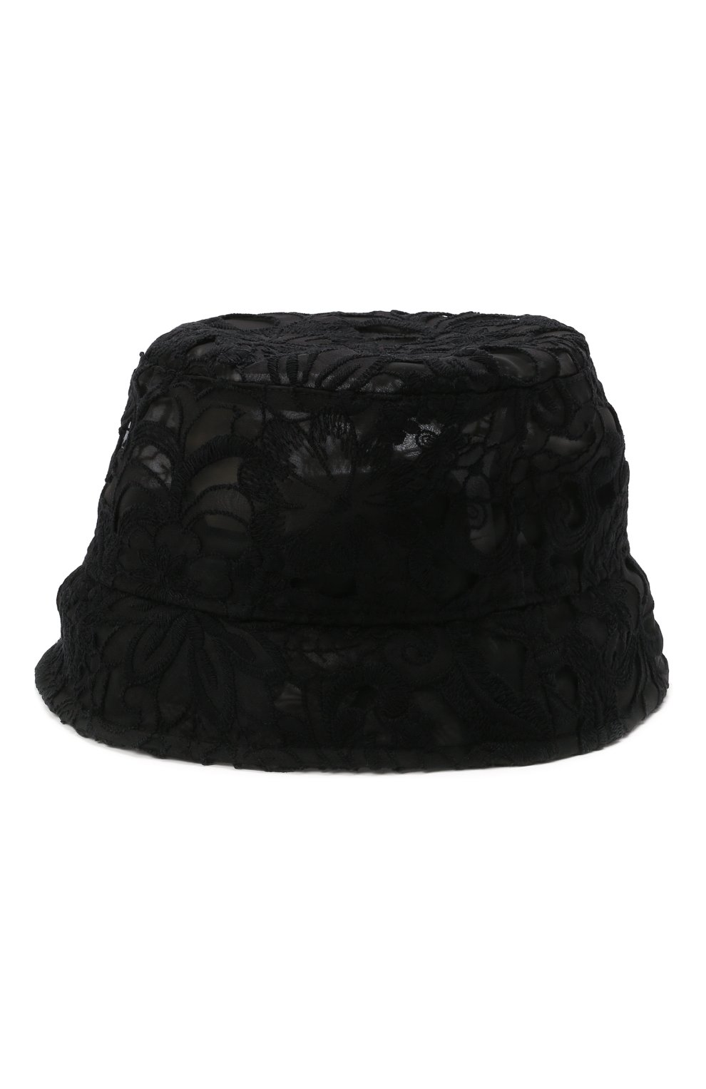 Женская панама из хлопка и шелка DOLCE & GABBANA черного цвета, арт. FH701A/FLM3Z   Фото 3 (Материал: Текстиль, Хлопок)
