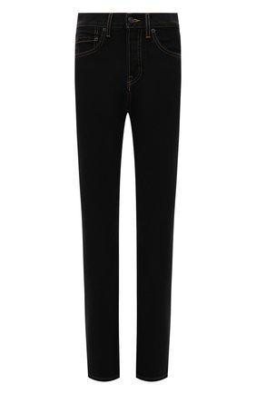 Женские джинсы WARDROBE.NYC черного цвета, арт. W2009PC | Фото 1 (Материал внешний: Хлопок; Кросс-КТ: Деним; Длина (брюки, джинсы): Стандартные; Силуэт Ж (брюки и джинсы): Прямые; Стили: Кэжуэл)