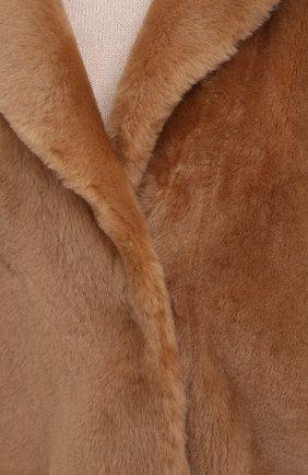 Женская шуба из овчины DROME бежевого цвета, арт. DPD3146P/D109P | Фото 5 (Женское Кросс-КТ: Мех; Рукава: Длинные; Материал внешний: Натуральный мех; Длина (верхняя одежда): Короткие; Стили: Кэжуэл)