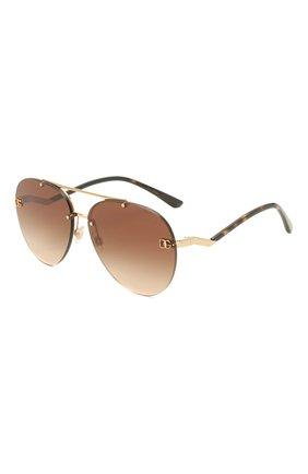 Женские солнцезащитные очки DOLCE & GABBANA коричневого цвета, арт. 2272-02/13   Фото 1