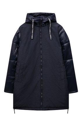Детский утепленное пальто ALESSANDRO BORELLI MILANO синего цвета, арт. I21281-1 | Фото 1