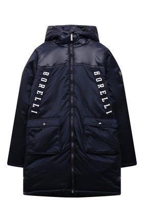 Детский утепленное пальто ALESSANDRO BORELLI MILANO синего цвета, арт. I21283-9 | Фото 1